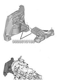 9800010180 ORJINAL Motor Takoz Sağ