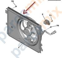 9806313280 ORJINAL Fan Motoru