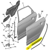 8546CJ ORJINAL Arka Kapı Çıtası Sağ/Bant/kuşak