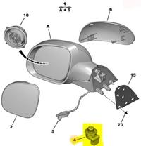 6545LC ORJINAL Ayna Kumanda Düğme