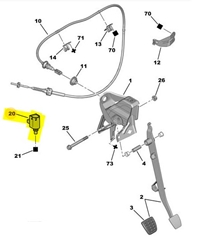 B000552180 ORJINAL Debriyaj Pedal Müşürü
